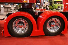 Dr. Cool show truck by Detroit Radiator Corporation - with first ever set of Continental HDL2 Eco Plus WB tires sold in U.S.  #trucks #trucking #trucktires #Continental #continentaltire