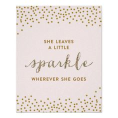She Leaves a Little Sparkle - Premiumd Canvas