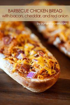 Barbecue Chicken Pizza Bread