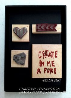 Stamp set carved by Christine Pennington