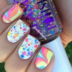instagram, nail polish, bright rainbow, daughter, summer nails, nail nailart, rainbow nails, color nails, nail art