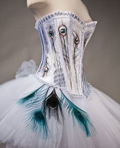 wow peacock corset dress