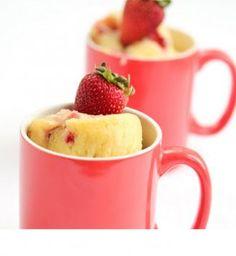 Mug Cake Citron fruits rouges