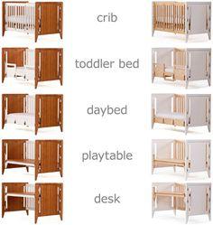 Crib into desk