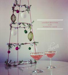 Tomato cage Christmas tree. cage tree, christmas holidays, tomato cage, christma decor, christma craftsfood, christma tree, cage decor, cage christma, christmas trees