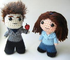 Geeky crochet patterns on Etsy: DIY Bella and Edward Dolls