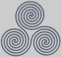 Druid Spiral of Life, pretty trippy. Like the Druid tattoos on Merlin, but more swirly...