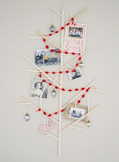 Collage-style Christmas tree.