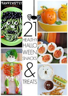 Healthy Halloween Snacks http://www.creatingreallyawesomefreethings.com/healthy-halloween-snacks/ #Halloween