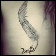 Tatto Breathe Feather • #feather #tatto #breathe #me #tatuaje #pluma