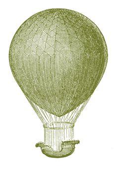 hot air baloon clip art, fairies, graphics fairy, graphic fairi, vintage hot air balloon art, hot air balloons, steampunk printabl, antiques, vintag balloon
