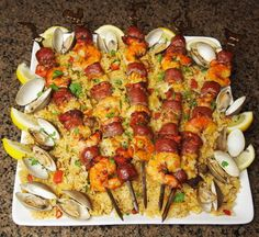 Kabob Creations WINNER: Cedar Planked Paella Kabobs made with Johnsonville Brats by Gregory M.