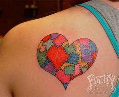 patchwork heart tattoo firefly tattoo