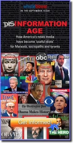 """WND helps expose the """"Disinformation Age"""" - A must read!  DON'T BELIEVE THE MAIN STREAM MEDIA!!!    WE MUST VOTE OBAMA OUT NOV 6"""