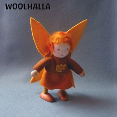 Waldorf autumn dollhouse fairy from woolhalla on etsy $29