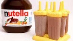 Nutella Popsicles Recipe - Laura in the Kitchen.  Whole milk, cream, sweetened condensed milk, and Nutella.