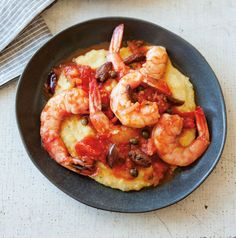 Shrimp in Tomato-Olive-Caper Sauce with Polenta - Williams Sonoma