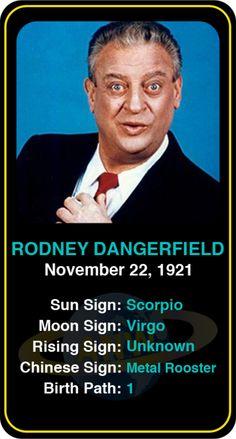 Celeb #Scorpio birthdays: Rodney Dangerfield's astrology info! Sign up here to see more: https://www.astroconnects.com/galleries/celeb-birthday-gallery/scorpio?start=180 #astrology #horoscope #zodiac #birthchart #natalchart #rodneydangerfield