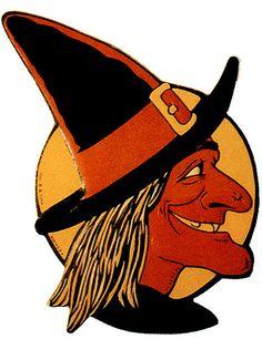 vintage Halloween witch...
