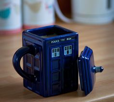 Doctor Who Figural Tardis Mug. I got this for my birthday and use it so much!! http://thegadgetflow.com/portfolio/doctor-who-figural-tardis-mug/