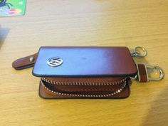 Genuine-Leather-Key-Cover-Case-For-Volkswagon-VW-Car-Brown