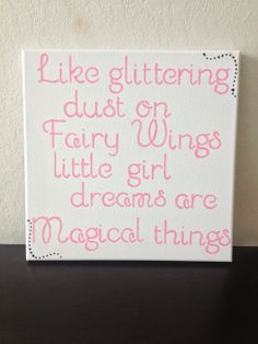 12x12 Quote Canvas  Like Glittering Dust on by DreamLoveBoutique, $25.00