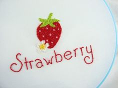 Strawberry French Knots Stitch