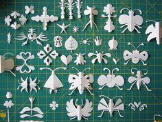 Beautiful folded paper bugs and shapes || herzensart journal: Knipwerk