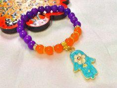 SALE HAMSA and JADE bracelet  bohemian bracelet amulet by Nezihe1