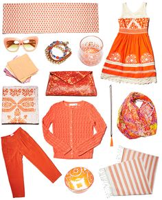Need a shot of color in your life? Consider orange. It's a mood-elevating, happiness-inducing jolt of pure joy. Need ideas? Anthropologie put together 14 ways to incorporate ripe shades of tangerine, apricot, saffron, mango, papaya, cantaloupe and more into your wardrobe (or your home).