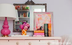 Gorgeously Styled Girls Shared Bedroom Vignette