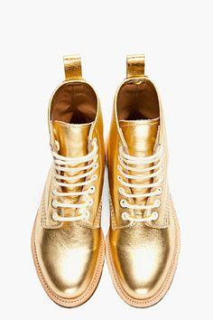 metallic gold doc martens