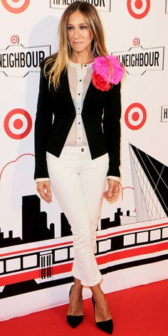 Sarah Jessica Parker- black & white