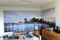 Skyline View on Wall with Ordinary Printer http://www.petapixel.com/2011/09/05/give-your-room-a-beautiful-skyline-view-using-an-ordinary-printer/  #skyline #view #pano #panoramic #printer