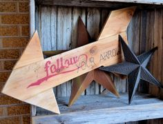 Follow Your Arrow Vintage-Styled Sign - The Flying C