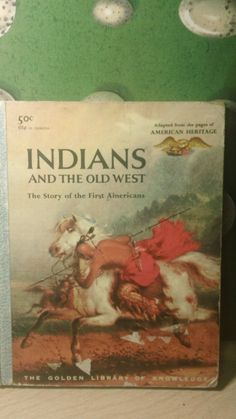 Indians and the Old West vintage 1950s Golden by kitschannette, $10.95