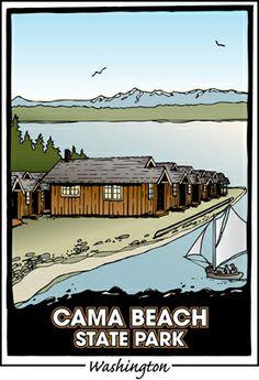 Travel Washington with your Ridgeback -  Cama Beach State Park = Washington