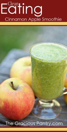Clean Eating Cinnamon Apple Smoothie  #cleaneating #cleaneatingrecipes #eatclean #smoothies #smoothierecipes