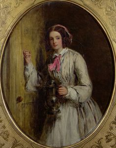 1858 maid with flagon