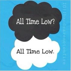 All Time Low? All Time Low.