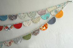 rounded bunting - I made this for Mary's birthday decor and to be permanent decor in her room. LOVE it!