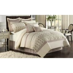 Evian 12-Piece Comforter Super Set - BedBathandBeyond.com I LOVE this bedding!!! and I want it~ :)