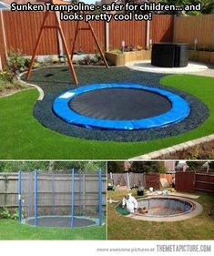 Sunken Trampolines are way better than normal trampolines…SO COOOL!