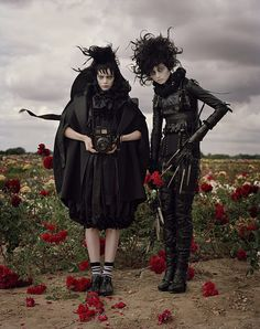 Tim Walker, Untitled (Harper's Bazaar, October 2009)  Lydia Deetz and Edward Scissor Hands