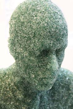 Shattered Glass Sculptures, Artist Daniel Arsham