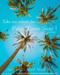 Take me where the palm trees sway. Via annamariaislandhomerental.com