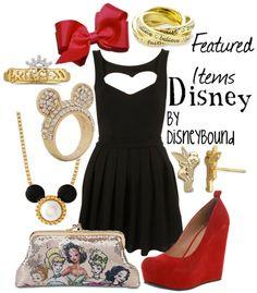 Disney outfit, love the heart cutout dress.