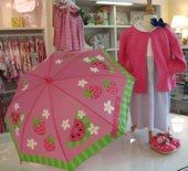 ADORABLE watermellon umbrella perfect for a little girl! Find it at The Little Exchange where all proceeds go to help kids at Dayton Children's!