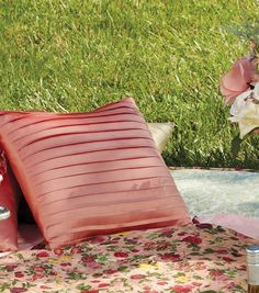 We love this silky pleated pillow!  Sew cute! #sewjoann