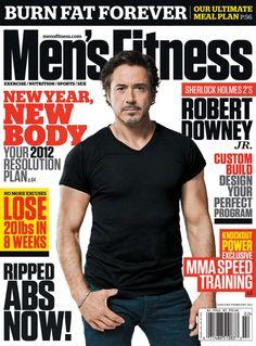 Robert Downey Jr, Mens Fitness